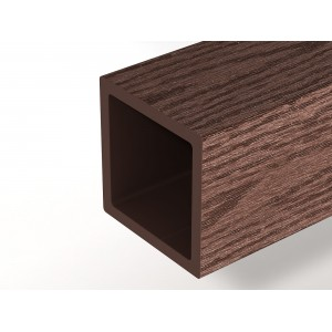 Столб опорный Вудвекс, тёмно-коричневый