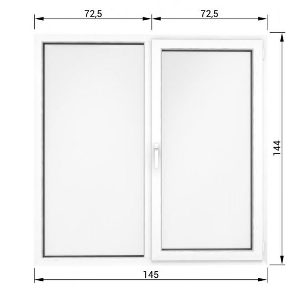 Окно 144*145